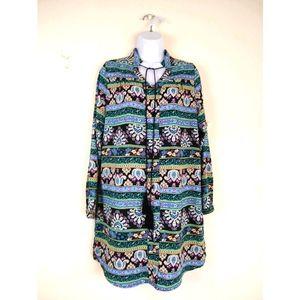 Freeway Boho Tassel Tunic Dress L